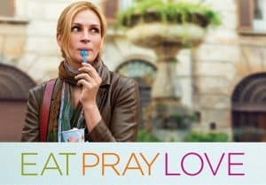 A poster of Eat, Pray, Love