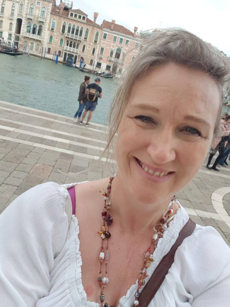 Tracy travelling in Italy