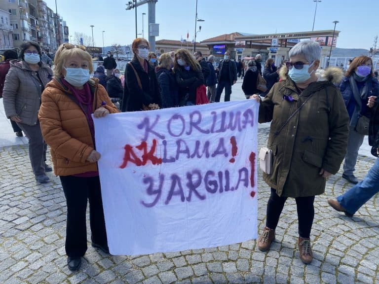 Women in Turkey protesting for women's rights